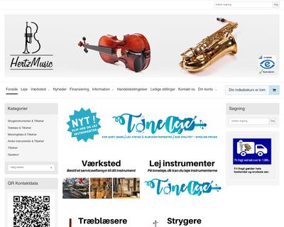 hertzmusic.dk website