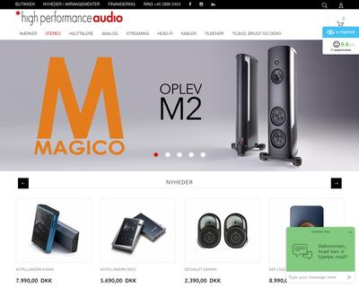 high-performance.dk website