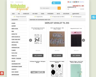 hobbyboden.dk website