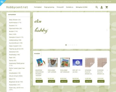 hobbycentret.dk website