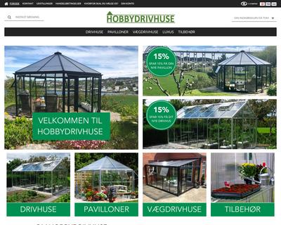 hobbydrivhuse.dk website