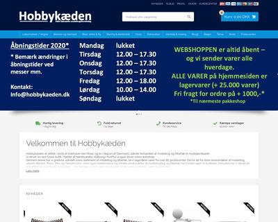 hobbykaeden.dk website