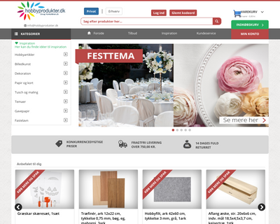 hobbyprodukter.dk website