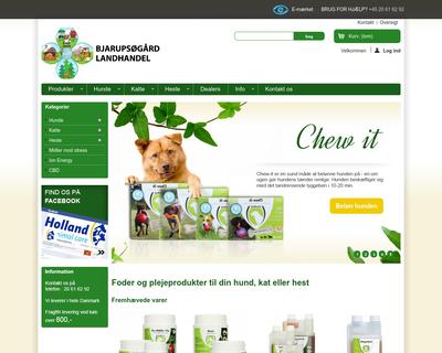 hollandanimalcare.dk website