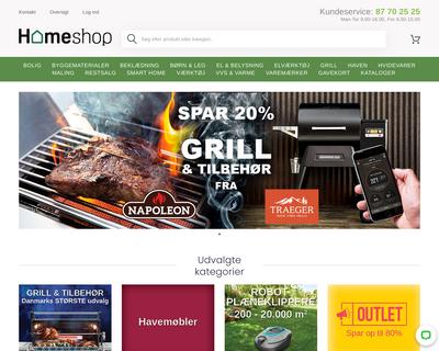 homeshop.dk website