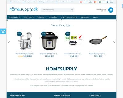 homesupply.dk website