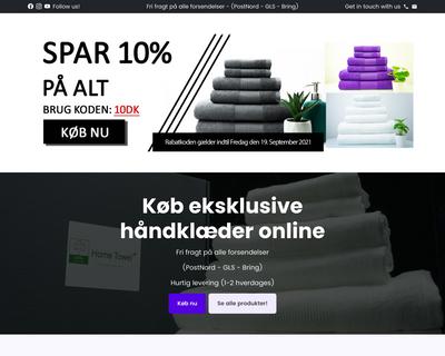 www.hometowel.dk website