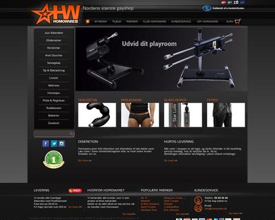 www.homoware.dk website