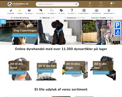 hooked4pets.dk website