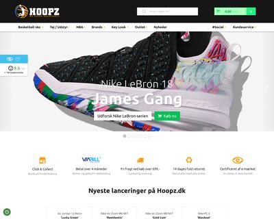 hoopz.dk website