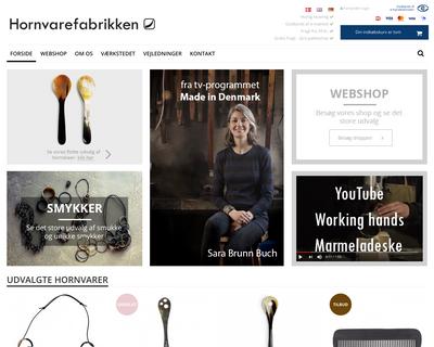 hornvarefabrikken.dk website