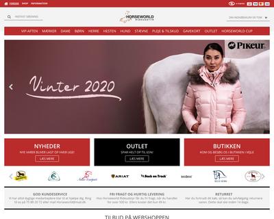 horseworld.dk website