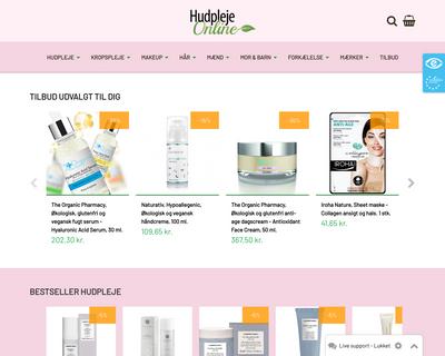 www.hudplejeonline.dk website