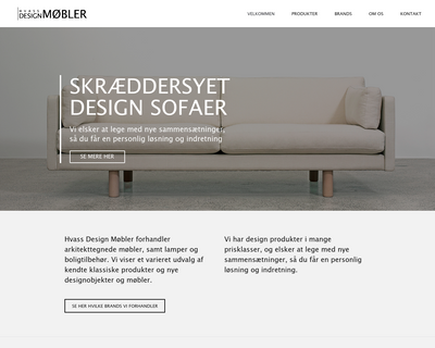 hvassdesignshop.dk website