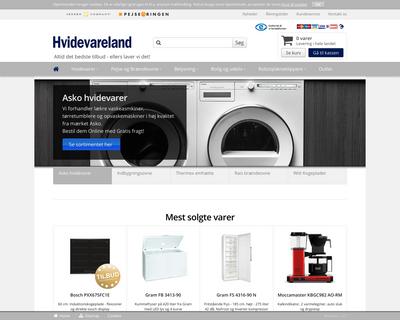 hvidevareland.dk website