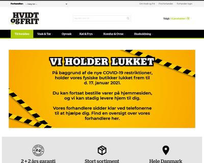 hvidtogfrit.dk website