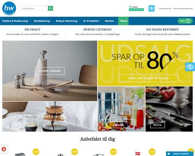 hw-homeware.dk website