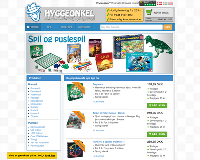 www.hyggeonkel.dk website