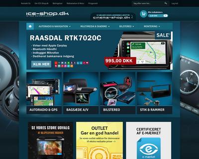 ice-shop.dk website