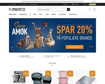 imerco.dk website