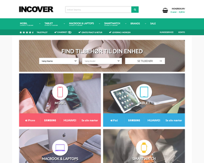 incover.dk website
