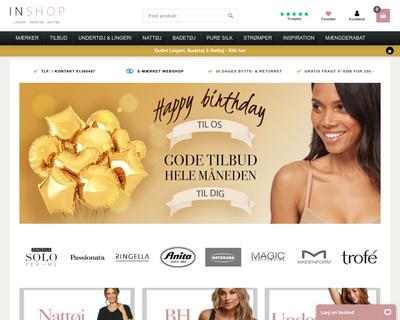 inshop.dk website