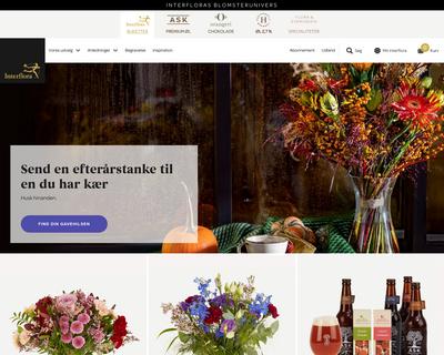 interflora.dk website