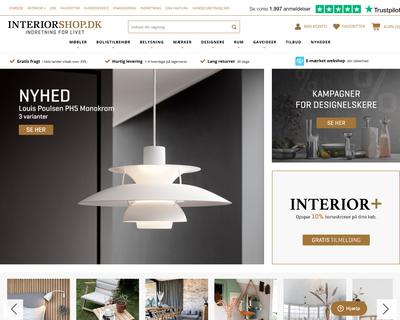 interiorshop.dk website