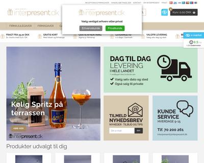 interpresent.dk website