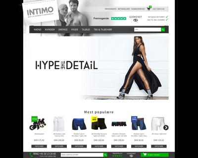 intimo.dk website
