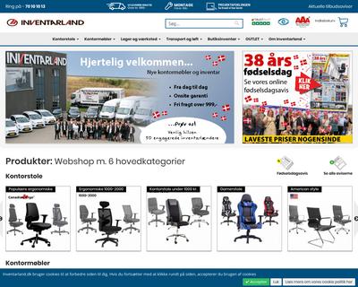inventarland.dk website