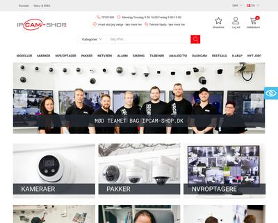 ipcam-shop.dk website