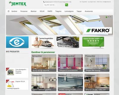 jemtex.dk website