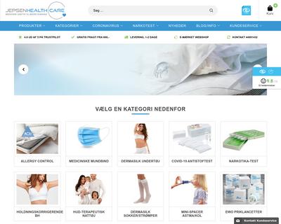 jepsenhealthcare.dk website