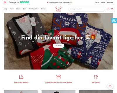 jule-sweaters.dk website