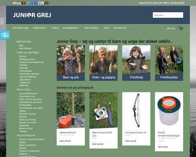 juniorgrej.dk website