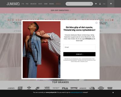 junkyard.dk website