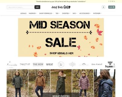 just-kids.dk website