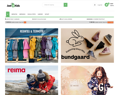 just4kids.dk website