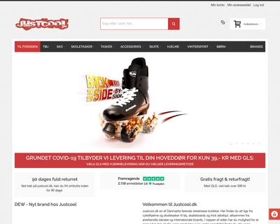 justcool.dk website