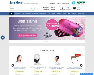 justmore.dk website
