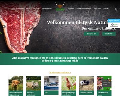 jysknaturkoed.dk website