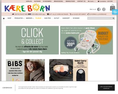 kaereboern.dk website