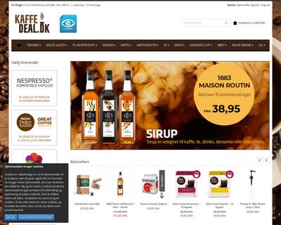 kaffedeal.dk website