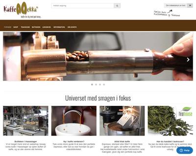 kaffemekka.dk website