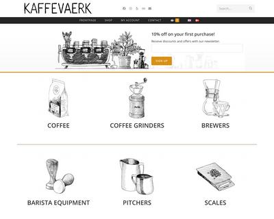 kaffevaerk.dk website