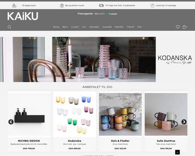 kaiku.dk website