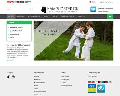 kampudstyr.dk website