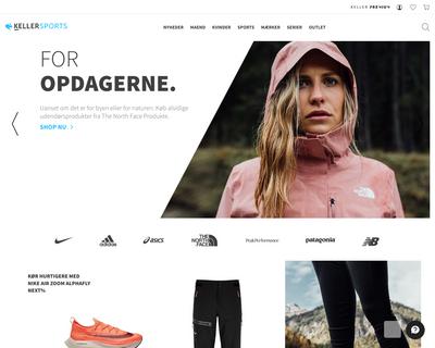 keller-sports.dk website