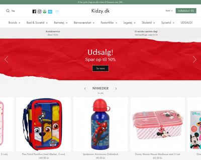 kidzy.dk website